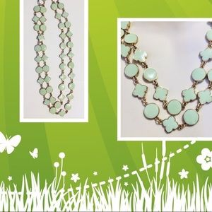 4 Leaf Clover Clover Double Steam Necklace.
